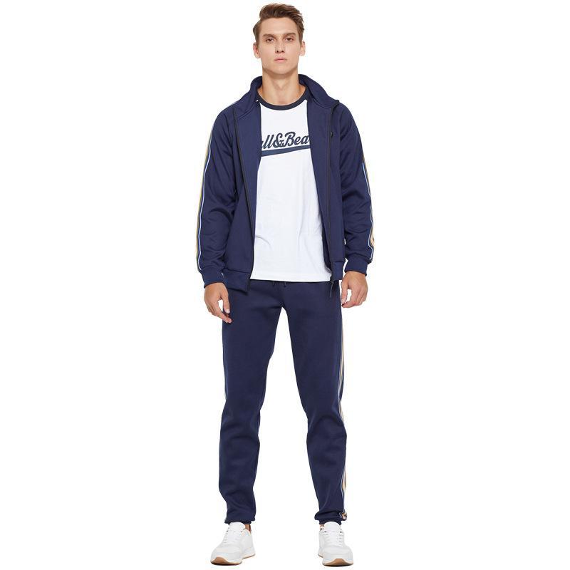 Mew Chegada Moda Fatos Homens Sweatsuit Outdoor Sportwear Esporte Luxo Terno Cardigan manga comprida Ativo frete grátis