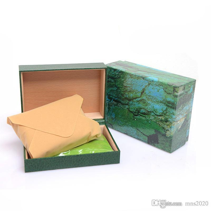 Watchs Wooden Boxes Gift Box green Wooden Watchs Box Mens Watches box leather Watchs Boxes Cases crown Watch Boxes