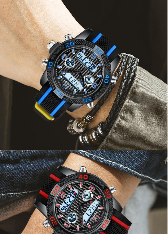 Mayforest Orologio Digitale lusso superiore del LED Digital vigilanza elettronica degli uomini di sport orologi da polso maschile orologio per uomini Clock