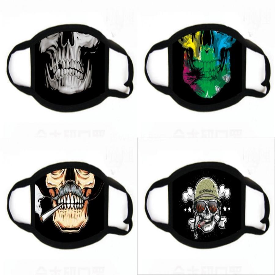 Fasion Unisex Baumwolle Fa Printing Masken Wit Reat Vae PM2.5 Mout Maske Anti-Staub Faric Maske Wit 2 Filter Innen # 459
