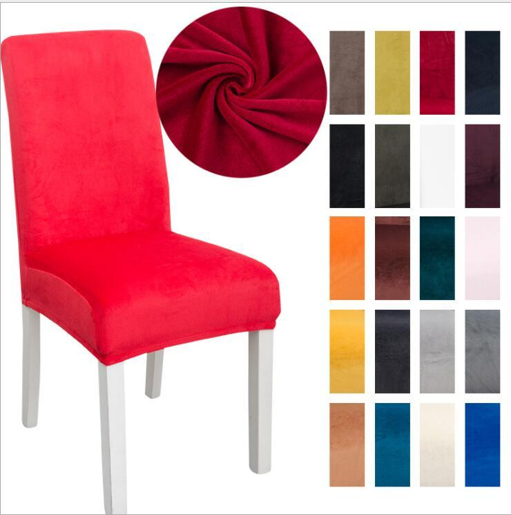 Chaise Chaise Spandex Solid Solid Chaise Soft Chair Couvre Élastic Chaise Lavable Chaise Siège Couverture Spectacles Home Banquet Décorations de mariage LSK1210