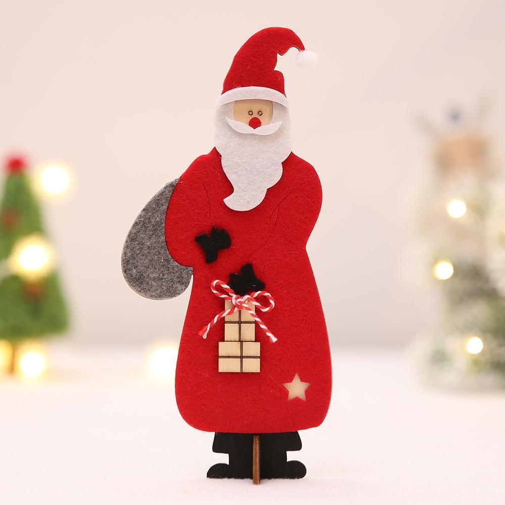 Howe nouvelle hot-vente de produits accessoires de décoration feutrine Père Noël ornements en bois comptoir de bar Table d'hôtel Howe nouveau hot-vente de
