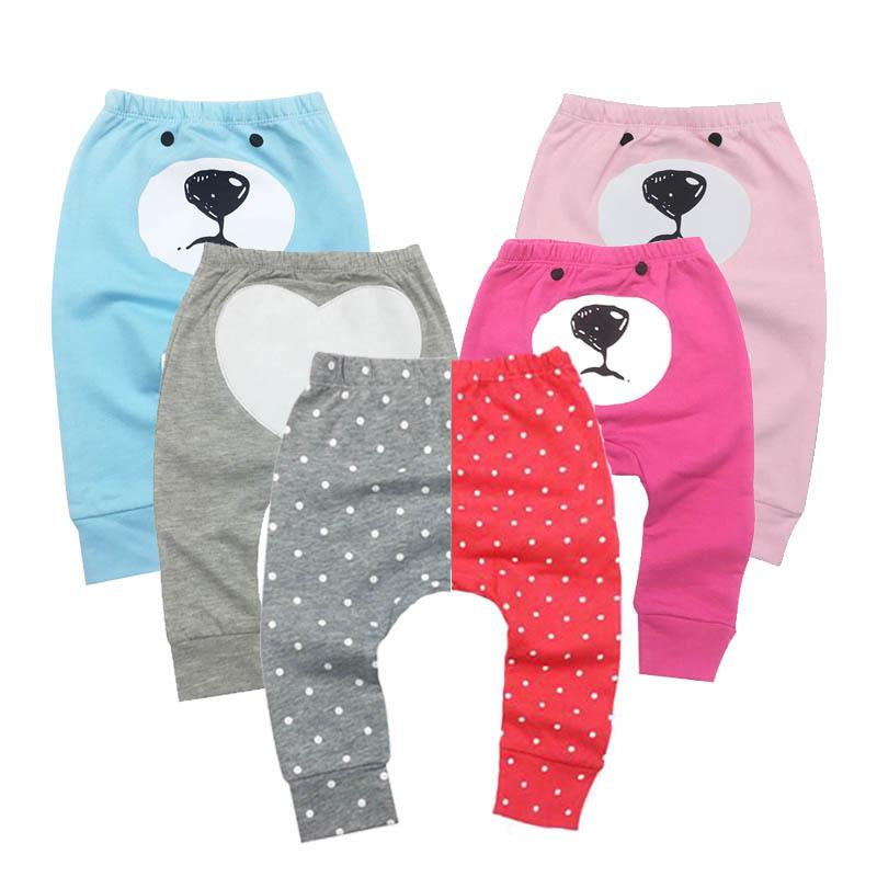 Boys Baby Girl Pants Kids Casual Harem PP Trousers Knitted Cotton Unisex Toddler Baby Leggings Pants Panties For Newborns MX200811