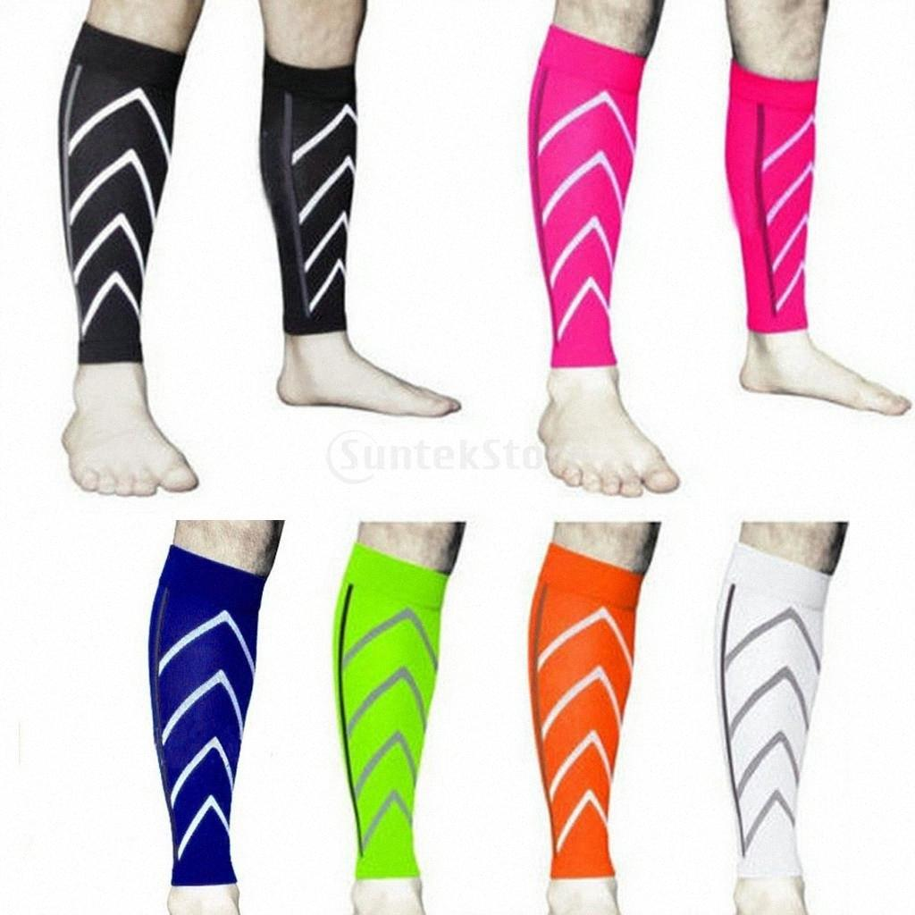 Coppia all'ingrosso Leg manica coscia gancio di sostegno di sport di pallacanestro di compressione Vitello Stretch VTmD #