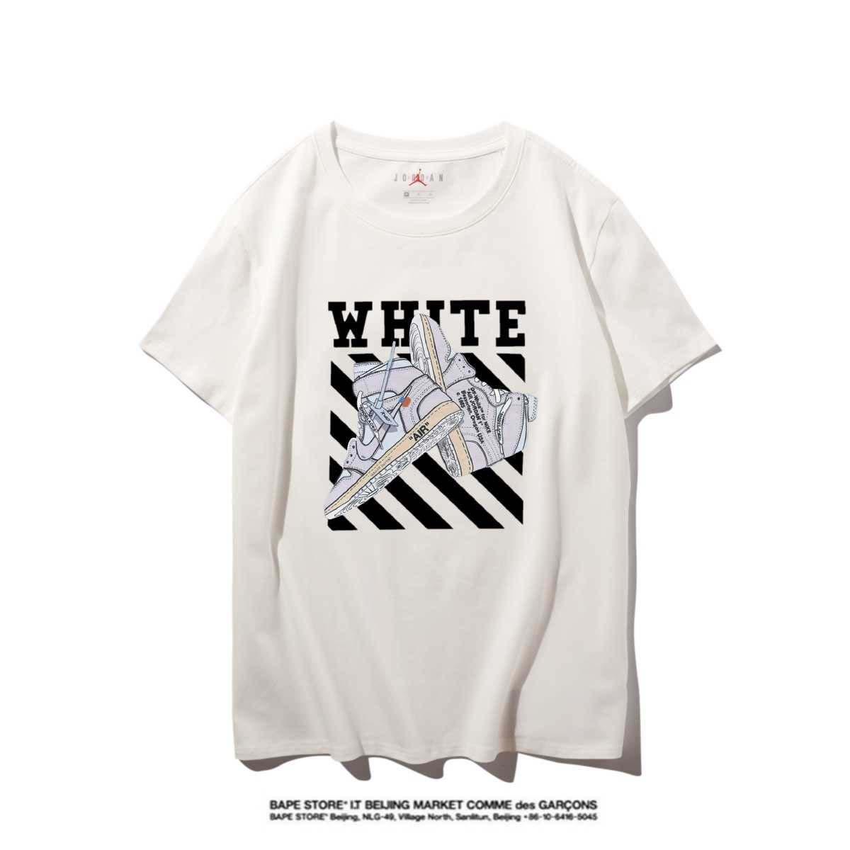 Jordan Hohe Qualität Neuer Brief Printing Short Sleeve Mode Aufmaß Cotton Hip Hop-Männer Frauen Paar Designer-T-Shirt S-XXL # 47821