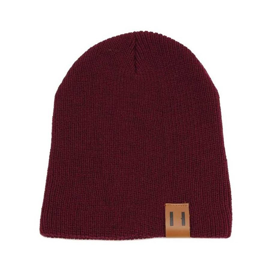 Hiver Maman Femmes bébé Enfants fille garçon nouveau-né Crochet Chapeaux Tricotés Casquettes Crâne Laine fourrure boule Pompon Hat # 512 Beanies