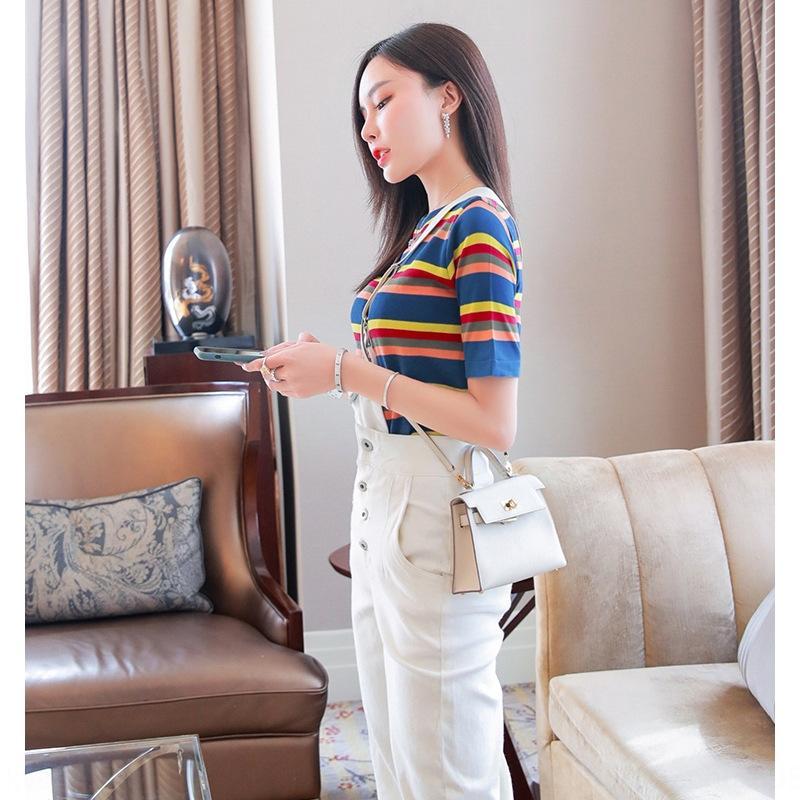 Casual Persönlichkeit des öffentlichen Lebens 2020 neuer Frauen keucht Sommerhosenträger Mode Anzug Western-Stil Alter mindernden Top-Jeans Jeans und jeansSling jeanstwo-pie