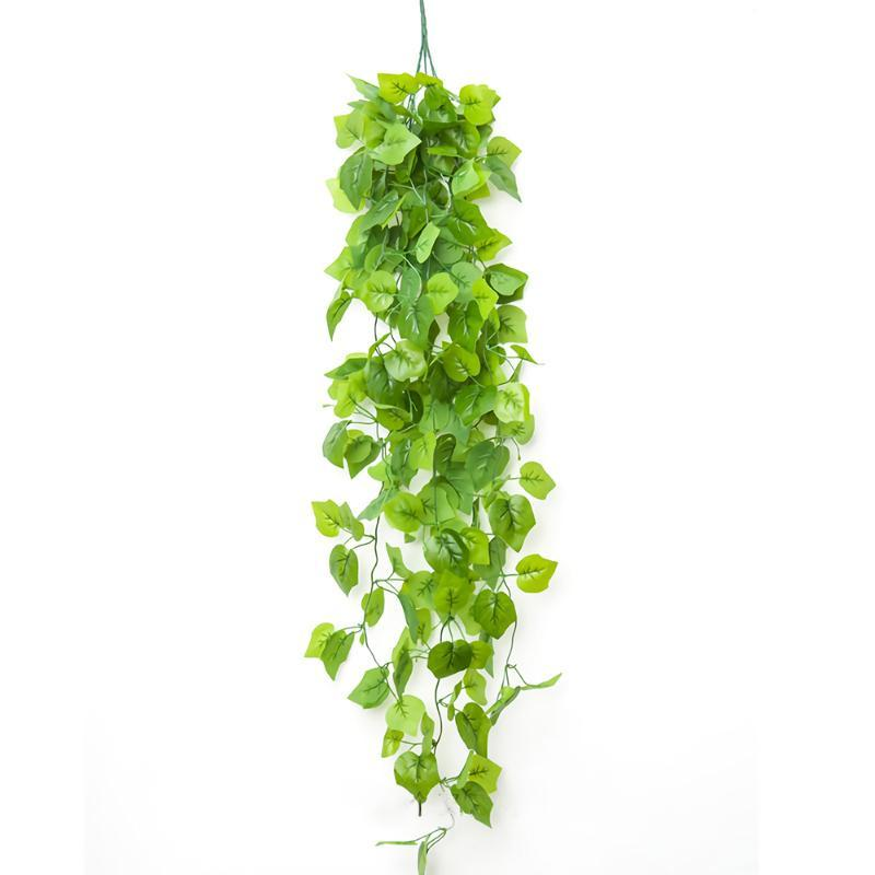 Artificial plant vine green leaf hanging basket home decor false leaf vine wall hanging basket wedding and Christmas decoration