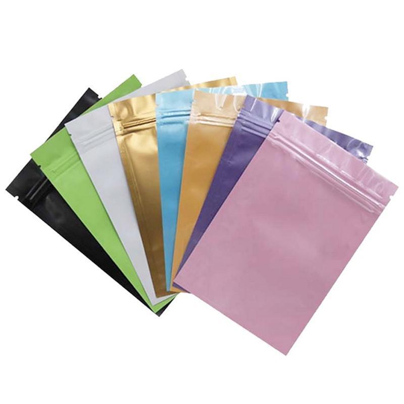 Синие / розовое / золото / зеленый / черного цвет самоклеющихся сумок с плоским дном из алюминиевой фольги небольших пластиковых мешков Уплотнительных мешков с плоским дном