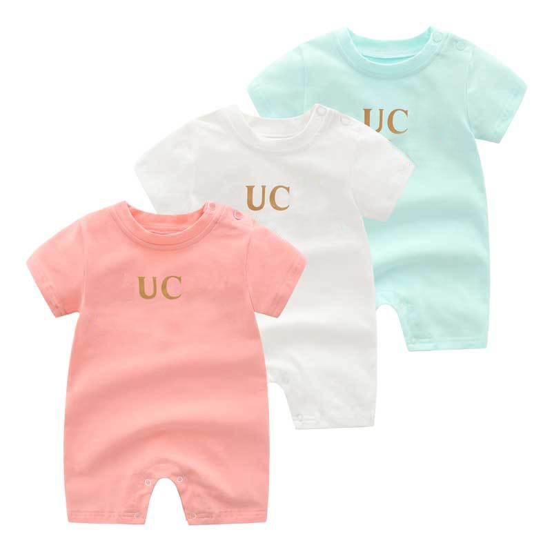 New summe Baby kurzärmelige dünn gedruckte Pullover neugeborenes Baby Body
