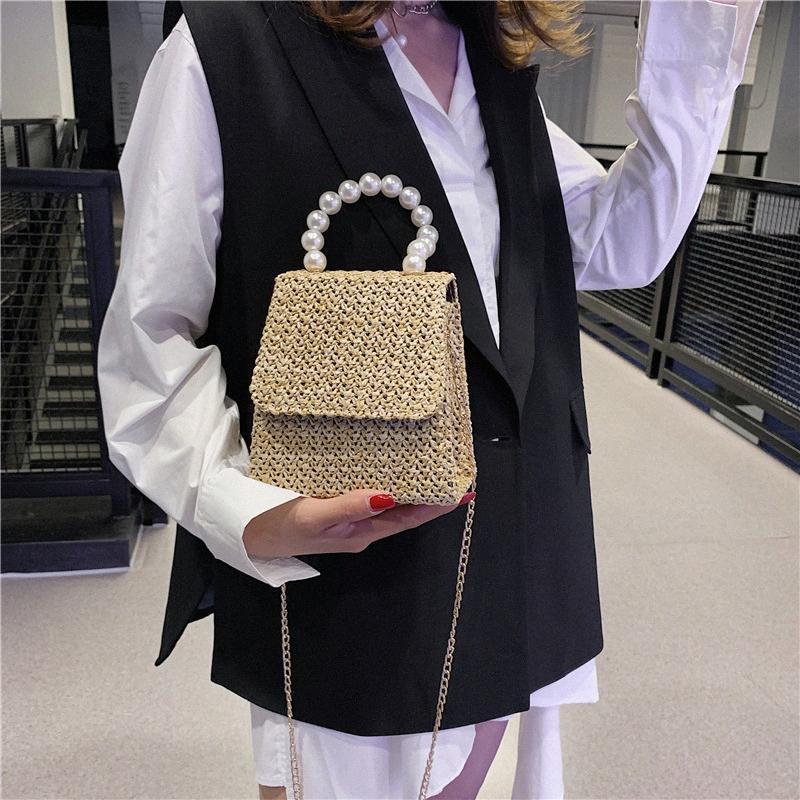 mulheres bolsas e bolsos ladylike coreano moda bolsas cadeia Pérola fábrica de tecelagem de fadas doce encantador 2LpN #