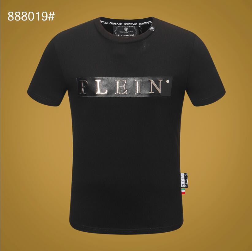 2020 Marka Tasarım Yaz sokak giyim Avrupa Moda Erkekler Yüksek Kalite Pamuk Tişört Casual Kısa Kollu Tee Tişört .A 10.
