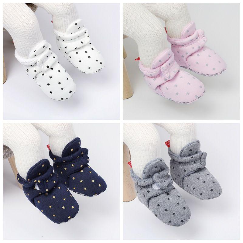 0-18M kış sıcak yenidoğan yürümeye başlayan ayakkabı kış acemi kız bebek çocuk ayakkabıları yumuşak alt ılık ayakkabı
