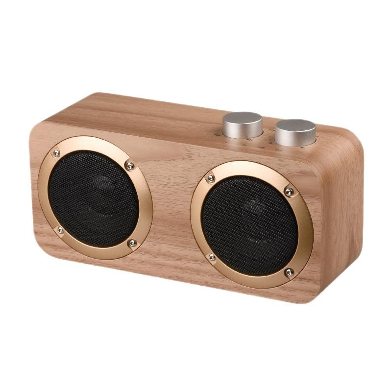 Bluetooth Speaker, USB Desktop legno altoparlante portatile senza fili Bluetooth, il supporto ad alta definizione audio e Bass