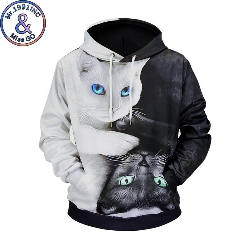 Mr.Miss go marka Erkekler Hoodies Sweatshirt Baskılı Komik Kalça HOP Kapüşonlular Streetwear Kapşonlu Moda stil T200917