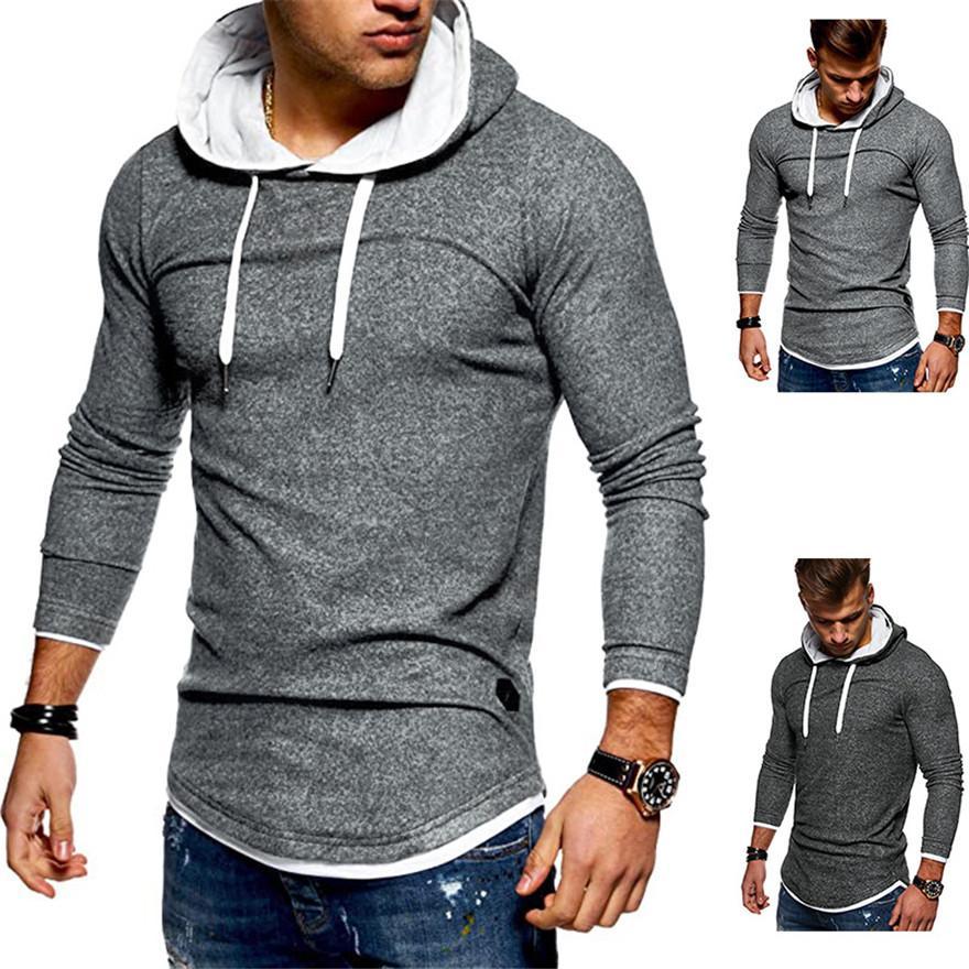 Designer homens hoodies inverno outono manga comprida com capuz moletom casual cor sólida slim streetstyle homem roupa