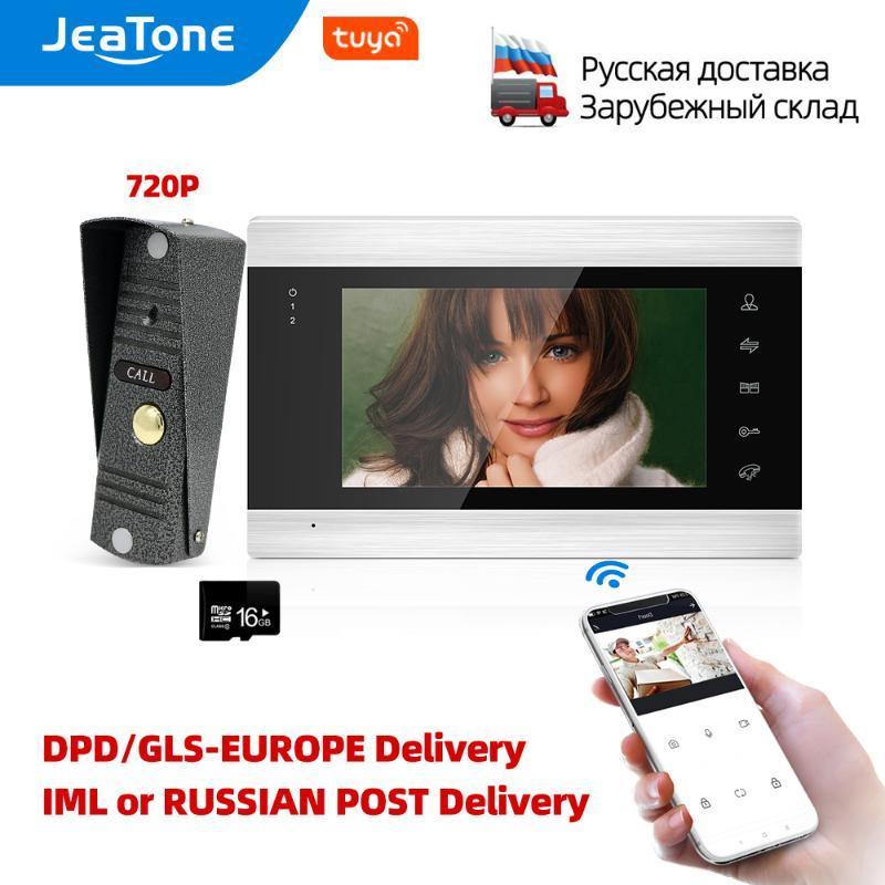 Jeatone 7 inch Wifi Tuya Home Video Intercom Video Door Phone Shipped from EU/RU/CN, Support Remote APP unlock Motion Detection