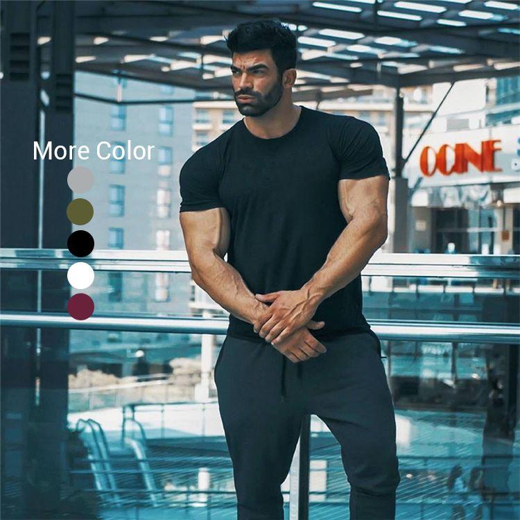 2020 Workout Blank Uomo manica corta maglietta assorbimento dell'umidità Mens Logo oversize Tshirt