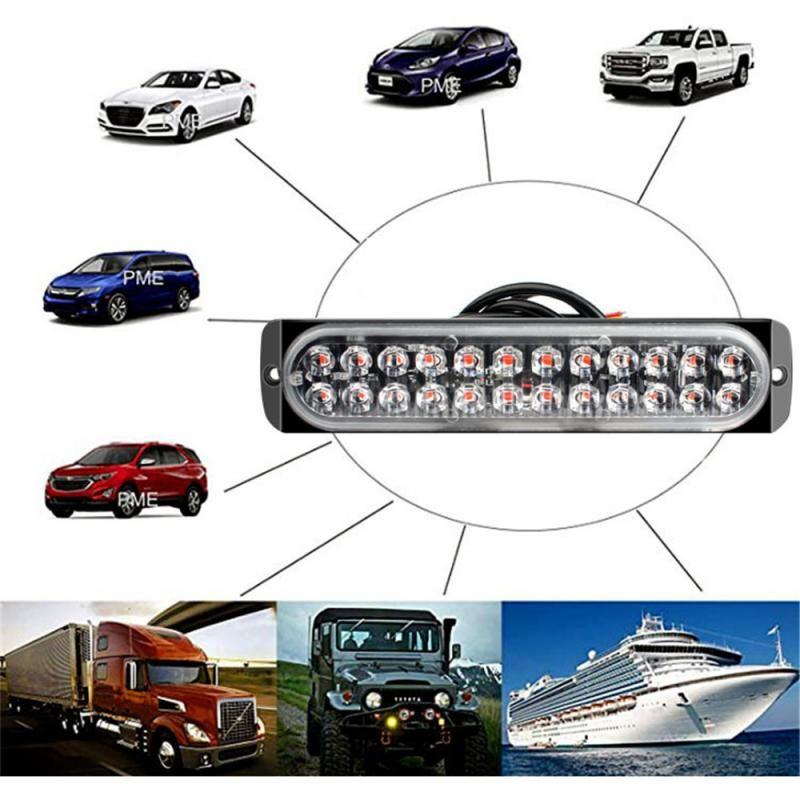 Ultra-mince LED d'urgence Lumière pour voiture avertissement clignotant d'urgence Sapeurs-Pompiers Ambulance Lumière LED Strobe Avertissement