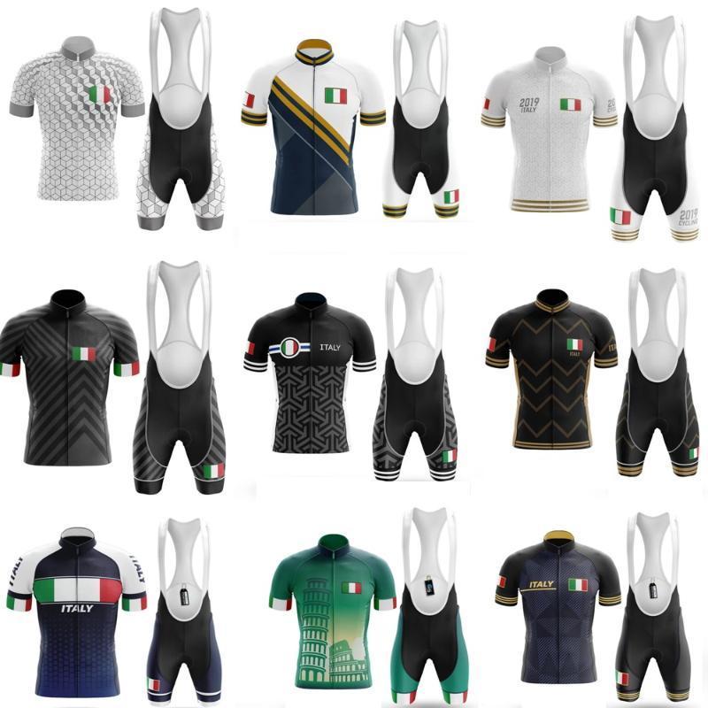 Complete Set Maillot Italie Cyclisme Vêtements d'été VTT Homme Vélo de dossard vélo Vêtements de sport Costumes