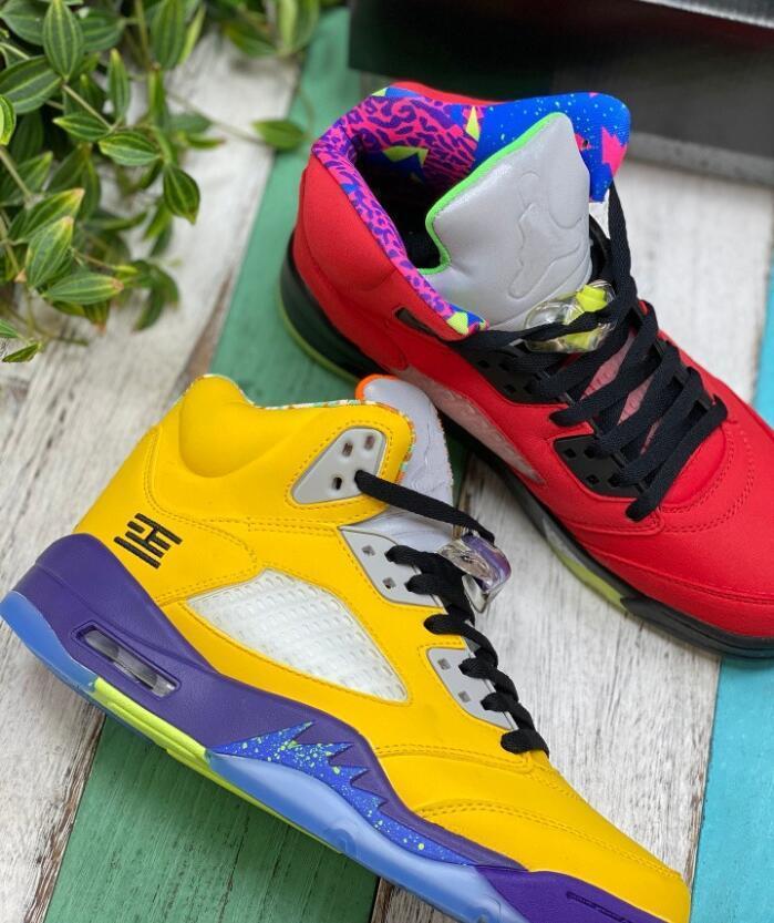Yeni Jumpman 5 Ne 2020 Alternatif ÜZÜM 5s Basketbol Ayakkabıları Bel Üzüm Travis Scotts Erkekler Eğitmenler Sneakers ile Kutusu