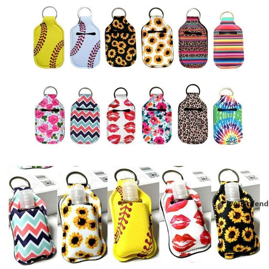 Sanitizer Sanitizer Keychian Bottle Holder copertina Girasole Holder novità del neoprene da baseball Articoli Chapstick 600pcs mano 30ml Bag UtWBl