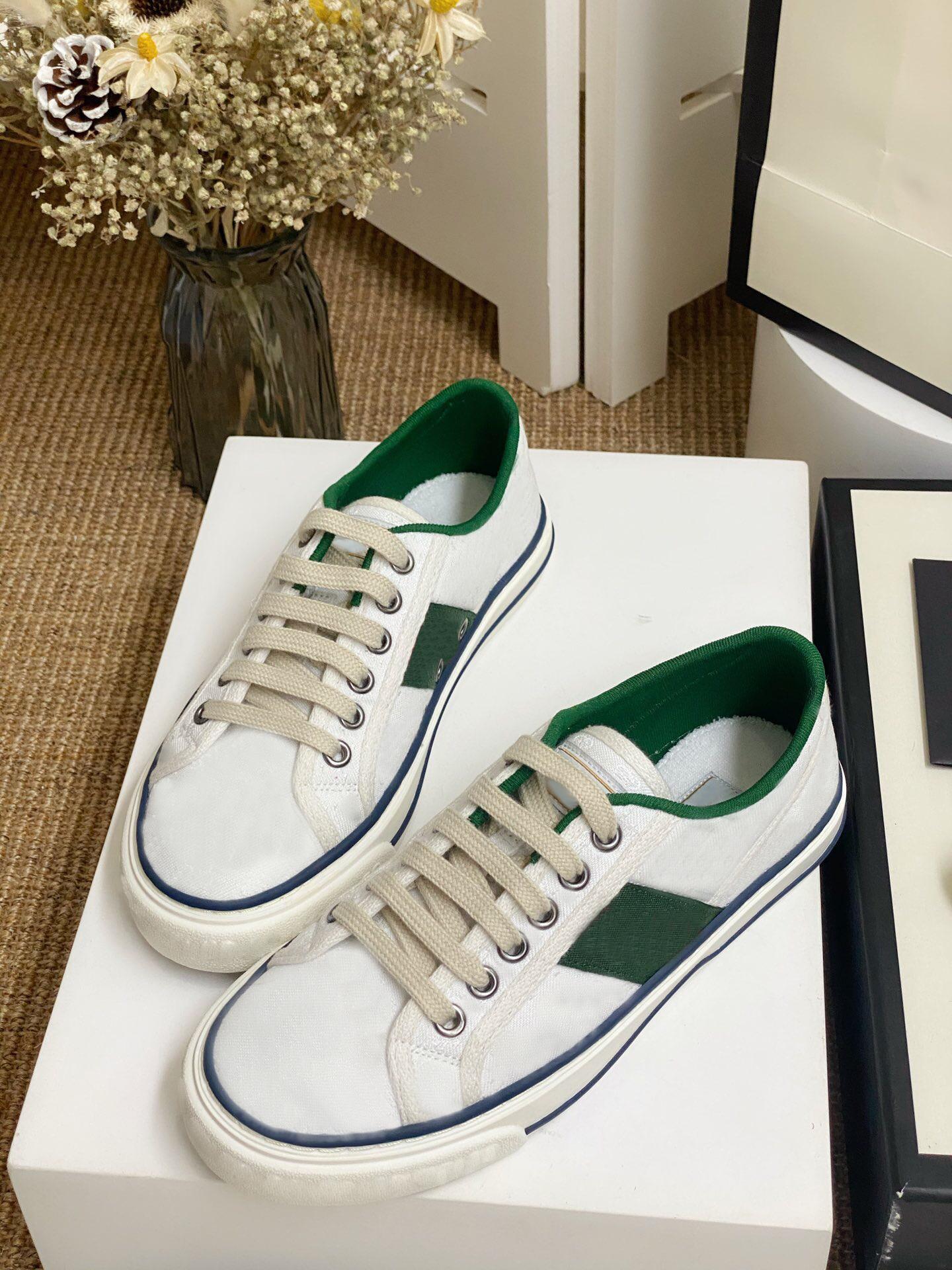 2020 تنس 1977 أحذية الرجال النساء فاخر مصمم أحذية عارضة خدعة الانزلاق في القاع الأزواج احذية موضة جديدة Matchs اللون أحذية حار نقطة الإنطلاق