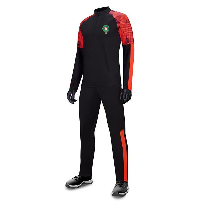 المغرب لكرة القدم للرجال لكرة القدم رياضية XXL مشجعي كرة القدم النسخة الأكمام الطويلة التدريب البدلة سترة لكرة القدم المشجعين جيرسي