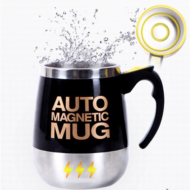 En acier inoxydable auto café Agitateurs magnetiques automatique tasse de lait de mélange Tasses mélangeur électrique Lazy intelligent Shaker Coupe thermique