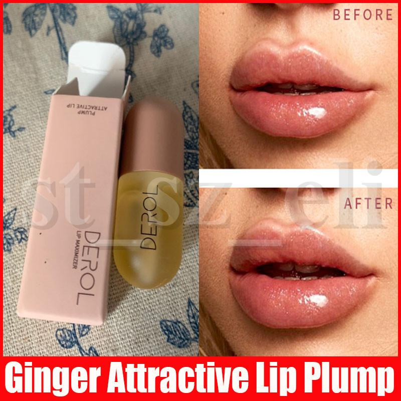 Derol Plant Extracts Plumping Lip Serum Moisturizer Volume Lip Gloss Long Lasting Sexy Lips Plumper Waterproof Makeup 5.5ml