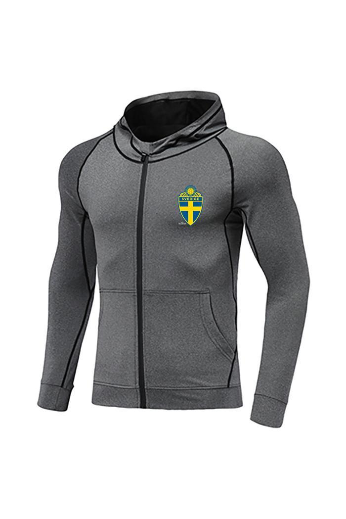 Швеция футбольный клуб Новый футбол куртка Дизайн Лучший Мужчины Футбол Tracksuit Месси Джерси Полный Zip разогреть Футбол Tracksuit