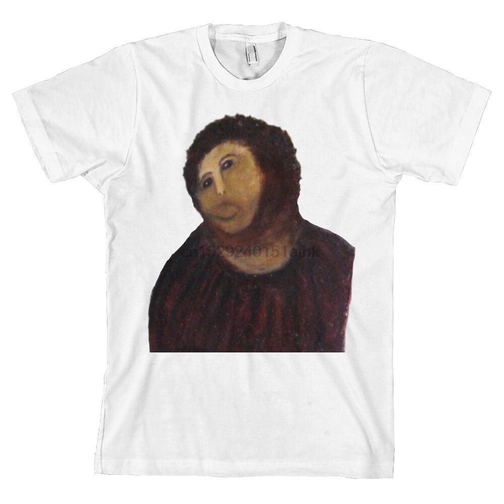 Ecce Homo Botched Peinture T-shirt de pommes de terre Jésus 4chan drôle Espagne Mémé T-shirt NOUVEAU