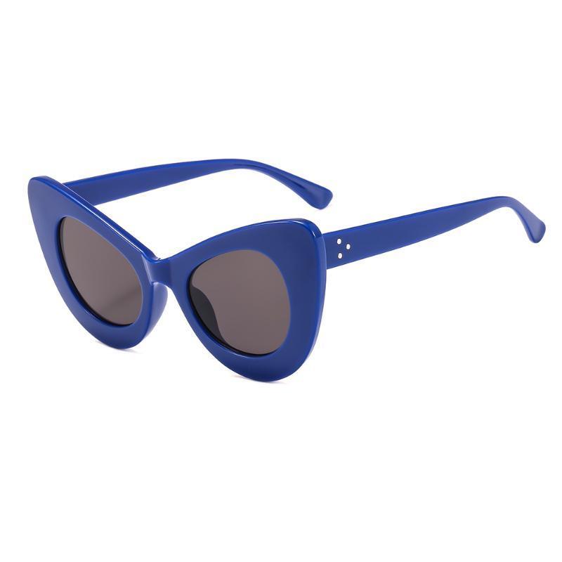 Marco retro de la manera del ojo de gato atractivo de las señoras de las gafas de sol de las mujeres pequeñas lentes de época retro Marca de plástico 2109 UV400