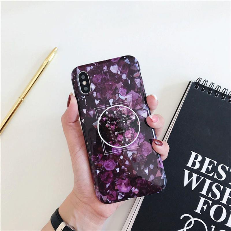 Marmor-Handy-Fälle mit Telefon-Halter-Taschen für Apple iphone 11 XR XSMAX Zubehör