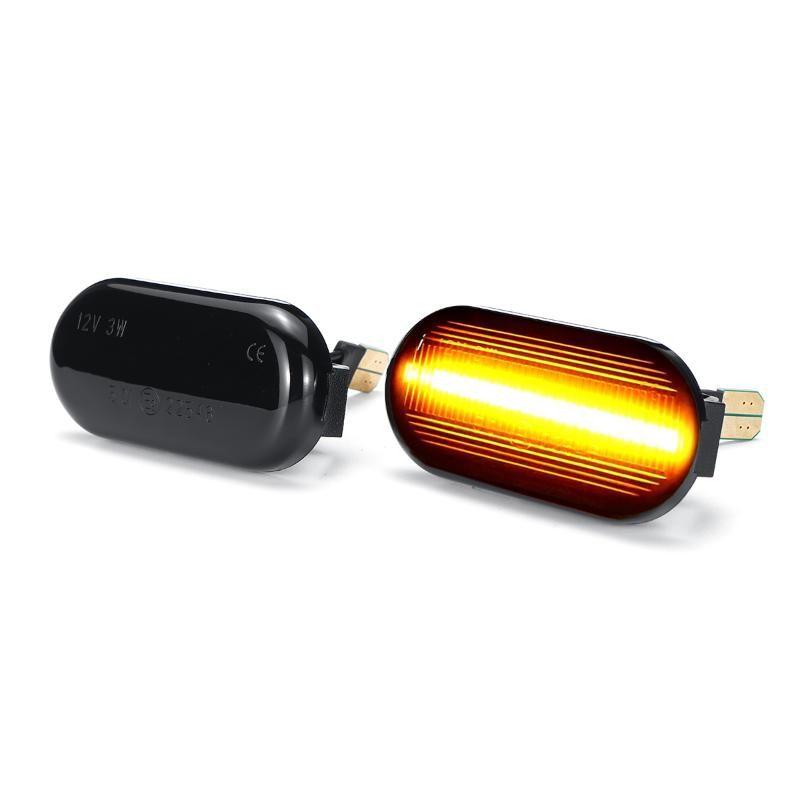 2x dinamica LED indicatore laterale delle luci 12V Accendere scorre segnale della lampada laterale della luce lampeggiatore per Qashqai J10 Nota Cube 350Z