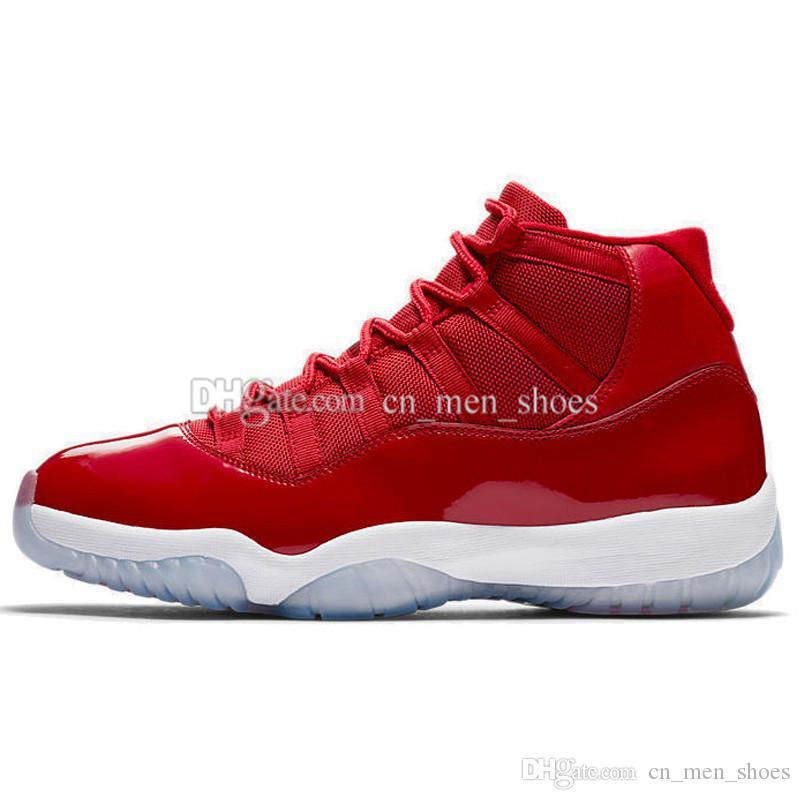 Zapatos de baloncesto de las encías barato caliente NUEVA 11 bajo Azul marino Rojo Bred Georgetown atasco del espacio Citrus GS de baloncesto zapatillas de deporte Mujer Hombre 11s bajo el Athletic
