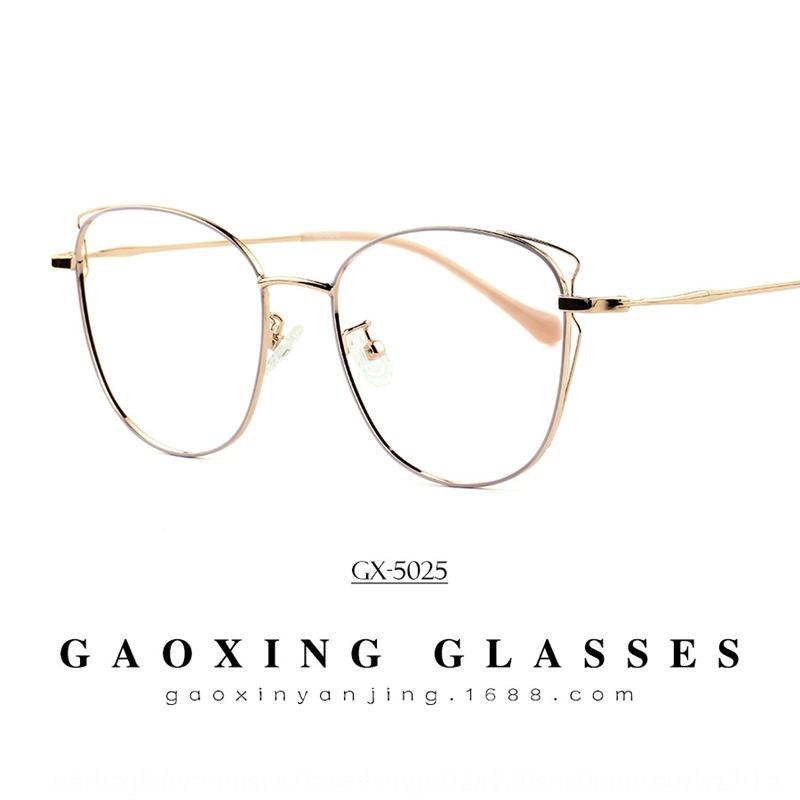 xo80r nuovo metallo di modo Bicchieri personalizzati squisita dell'orecchio di gatto delle donne della struttura occhiali full frame