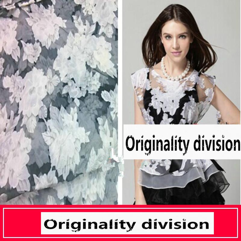 50*280cm/piece Top grade lace print dress fabric