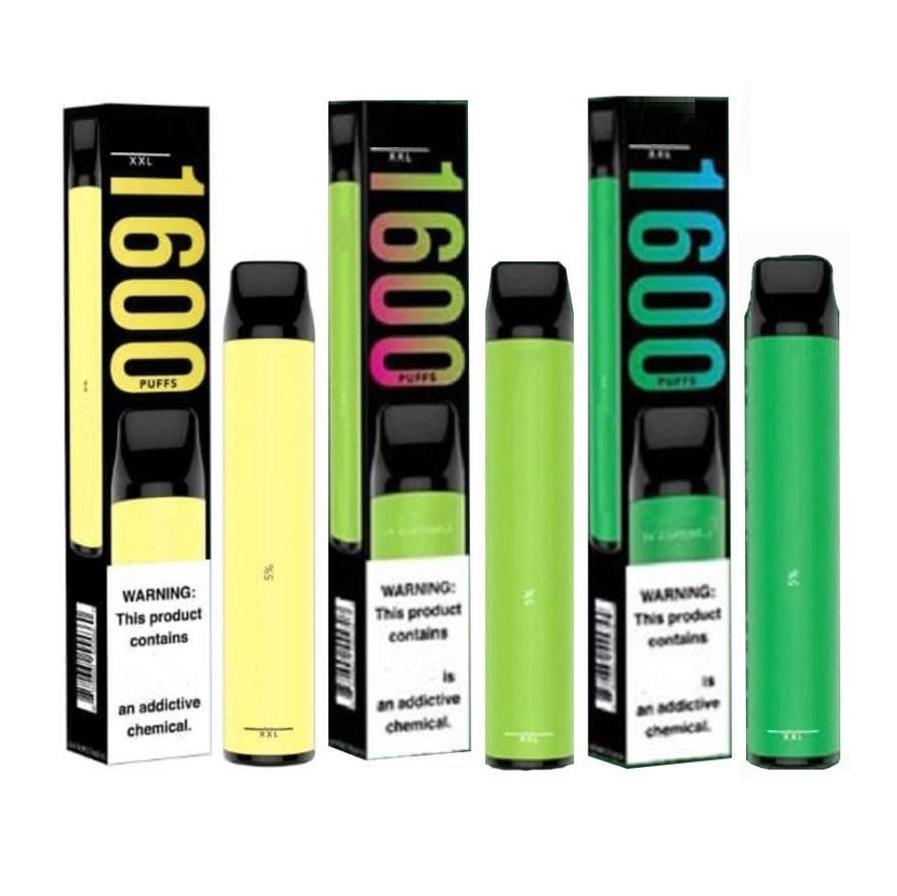 2020 Yeni Puf XXL 1600 Puffs Tek Kullanımlık Vape Kalem Cihazı Yenileme Kitleri Boş Tek Kullanımlık Buharlaştırıcı VS Puff Flow Artı Xtra