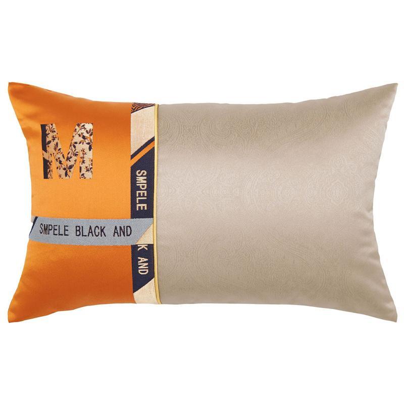 32 * 52CM Retângulo letra M cintura Pillow Precision jacquard fios tingidos casos lombar almofada HomeHotel Sofá Almofada decorativa Lombar Pillow