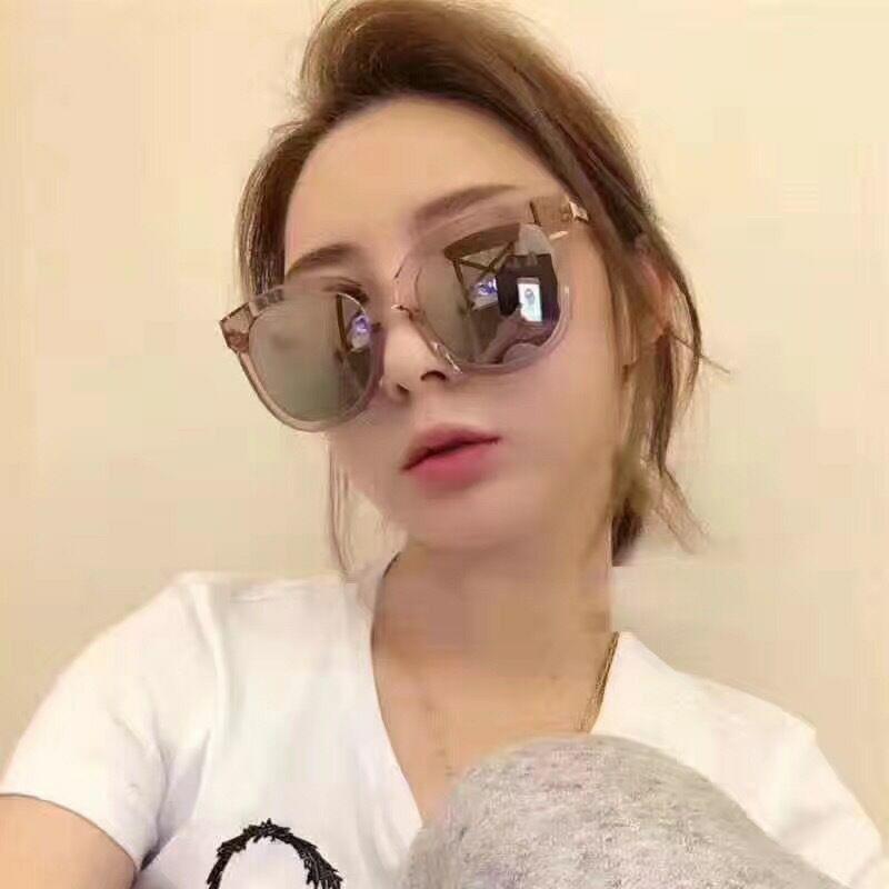 lvebJ New Tingli mode V-marque soleil polarisée grand cadre lunettes de soleil lunettes mode étoile rose