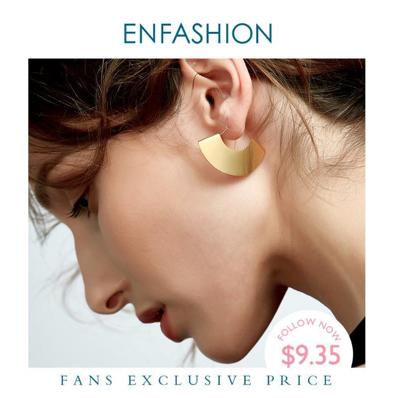 Enfashion Vintage Развал вентилятора мотаться серьги Матовый Цвет золота серьги падения серьги для женщин Длинные серьги ювелирные изделия Brinco E5424