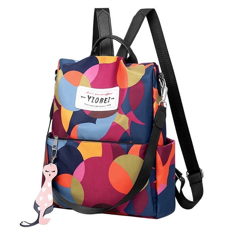 Su geçirmez sırt çantası Kadınlar Oxford Multifuction Bagpack Casual Anti Theft Sırt Çantası Genç Kızlar Schoolbag 2020 Sac A Dos mochila LJ200923
