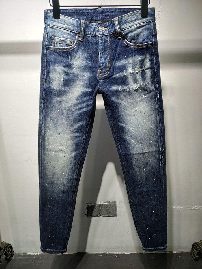 Yeni Moda Erkek Basit Yaz Hafif Jeans Erkek Büyük Beden Günlük Düz Denim Erkekler Jeans Yeni Stil Denim Jeans