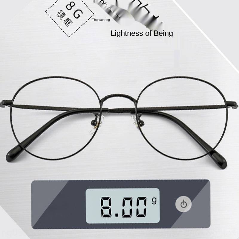 Nueva gsCqS B de titanio miopía miopía vidrios de las gafas de llanura de aspecto ultra-ligero marea coreana marco contra la luz azul disponible con las mujeres del marco