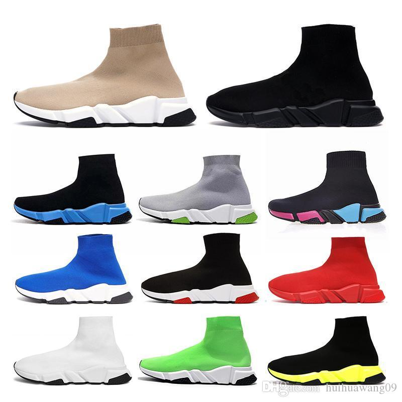2020 Designer Sock Sapatos Esportivos Speed Trainer Luxury Womens Mens Running Shoes Tripler Tan Vintage Sneakers Socks Boots Botas Plataforma de plataforma