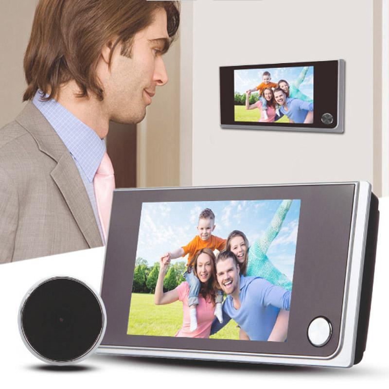 Video-Türtelefone 3,5-Zoll-LCD-Farbbildschirm-Digital-Türklingel 170 Grad Eye elektronische Peephol-Kamera-Viewer im Freienglocken
