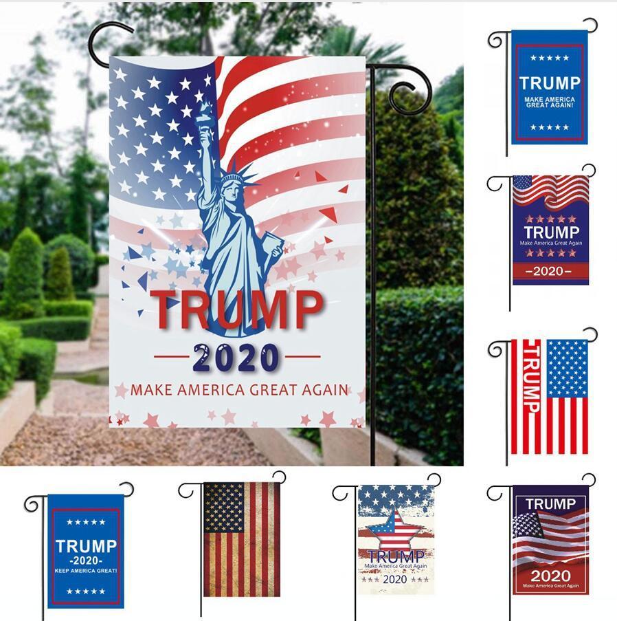 13 estilos Donald Trump Trump Banner Banderas Banderas Jardín 30 * 45cm hacer de Estados Unidos Gran patio al aire libre decoración del jardín DDA570