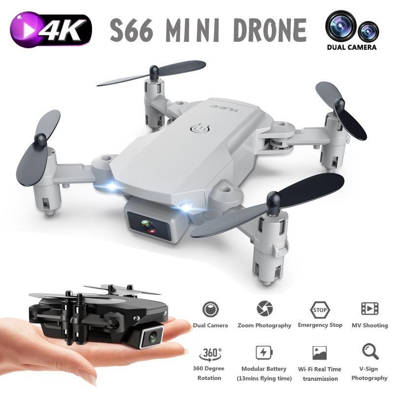 S66 Mini RC Drone 4K HD-камера WiFi FPV складные беспилотники двойной камеры Quadcopter 15 минут срок службы аккумулятора высоты Техническое обслуживание мальчика игрушки