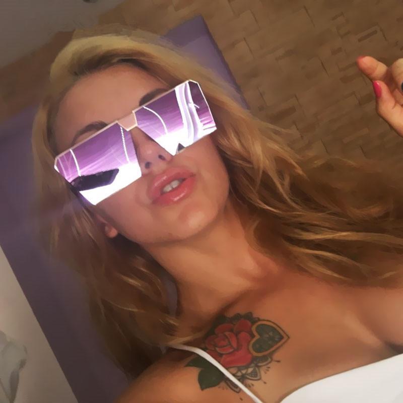 Модный бренд для плоских женских топ Солнцезащитные очки Женщины Мужчины Винтажные Очки квадратные Ореховые Зеркальные Зеркалы Sun Оттенки Дизайн Дамы Негабаритный TTWOD